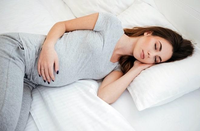 Идеальная поза для сна беременным