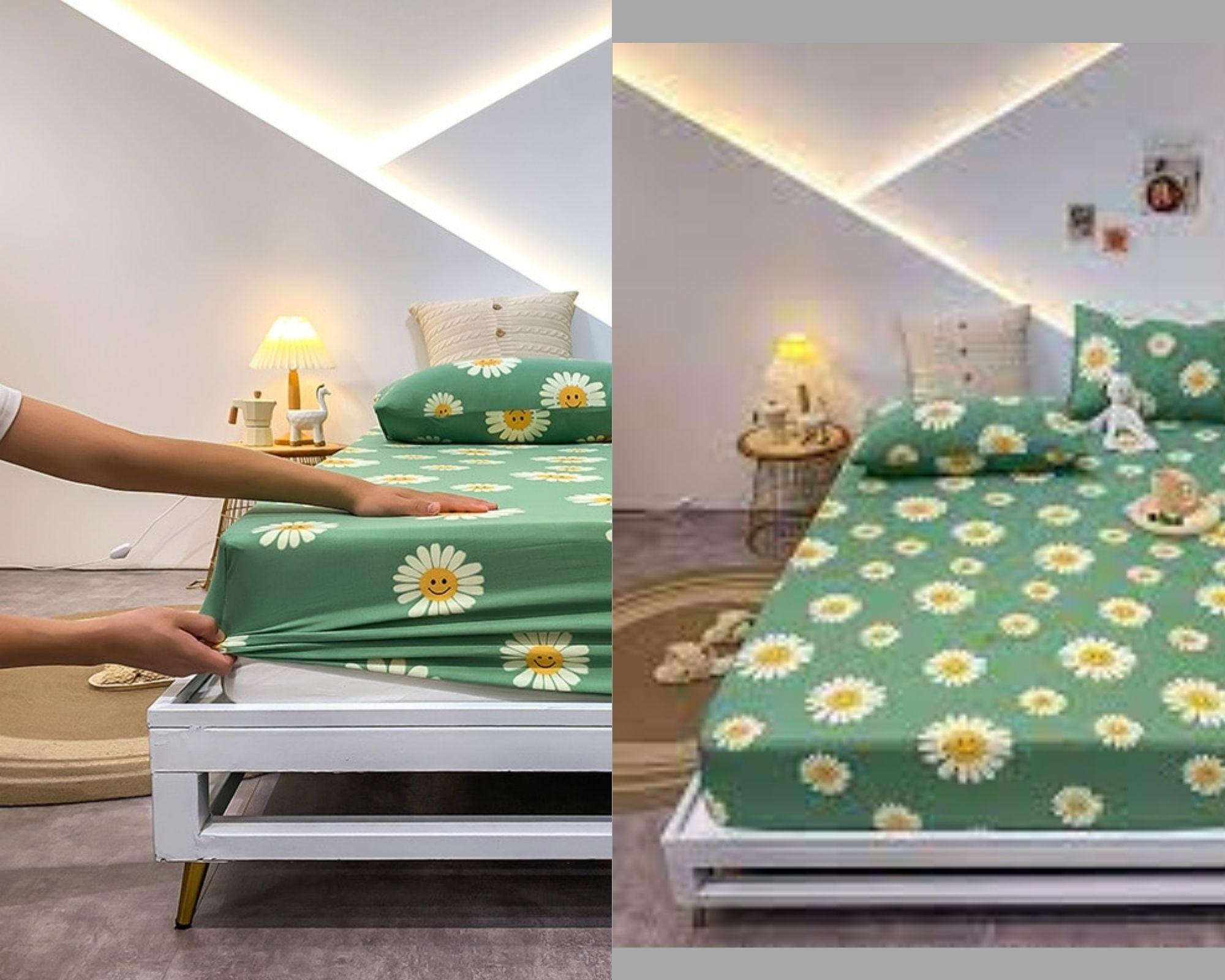 Детская кроватка с простынкой
