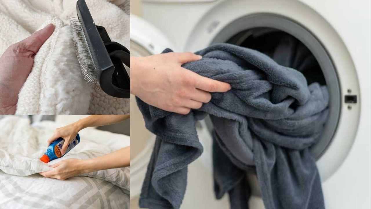 Стирка и вычесывание одеяла