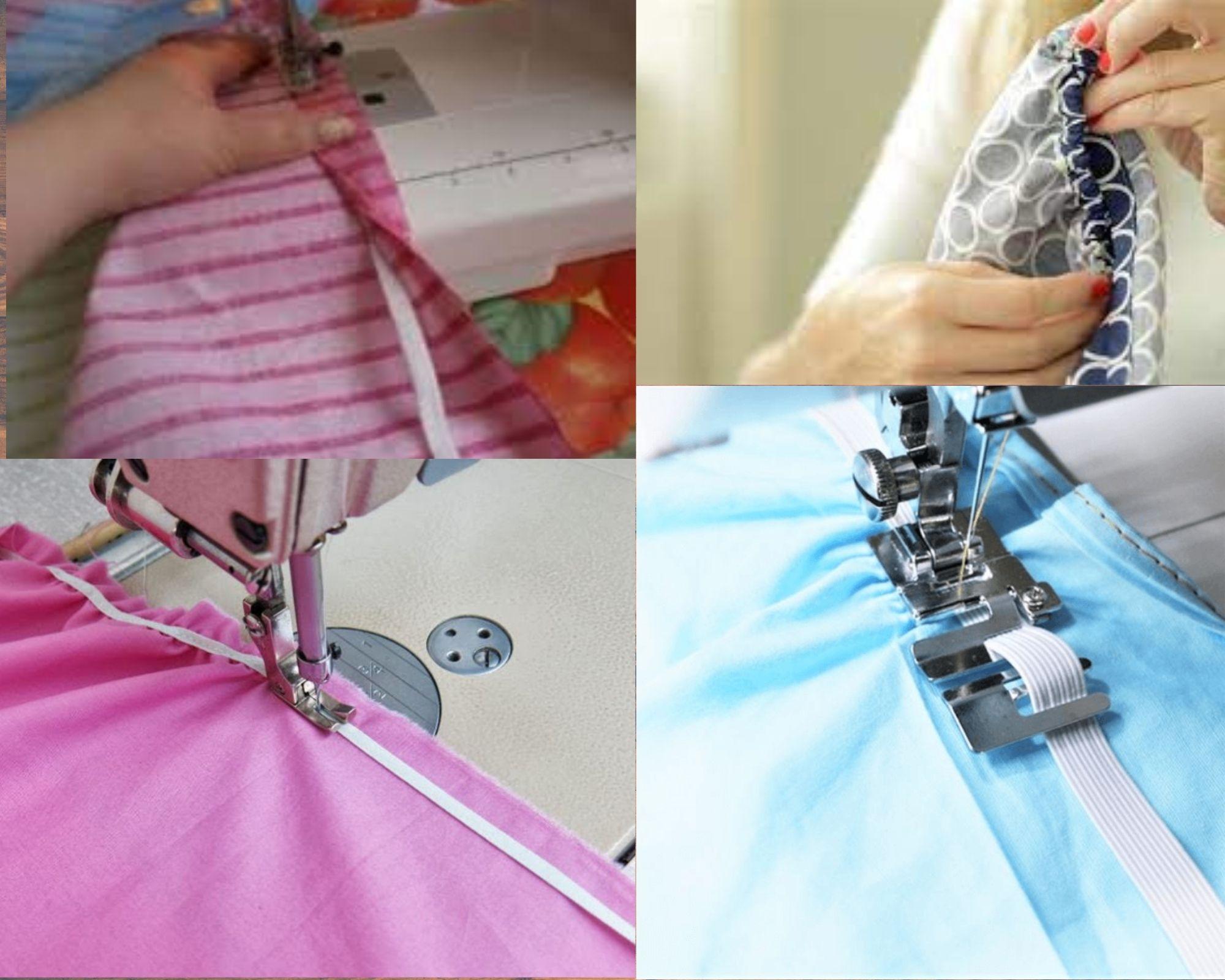 4 типа пришивания резинки