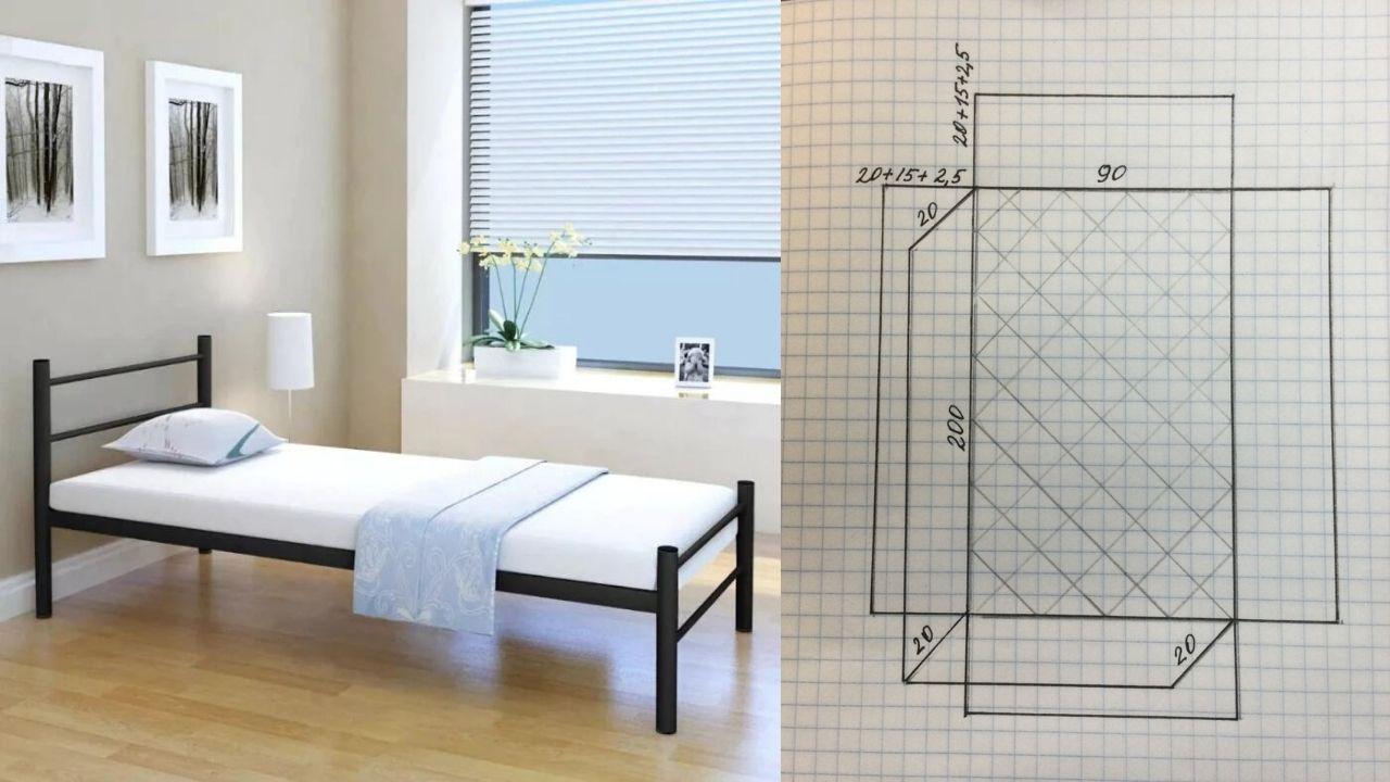 Кровать и схема
