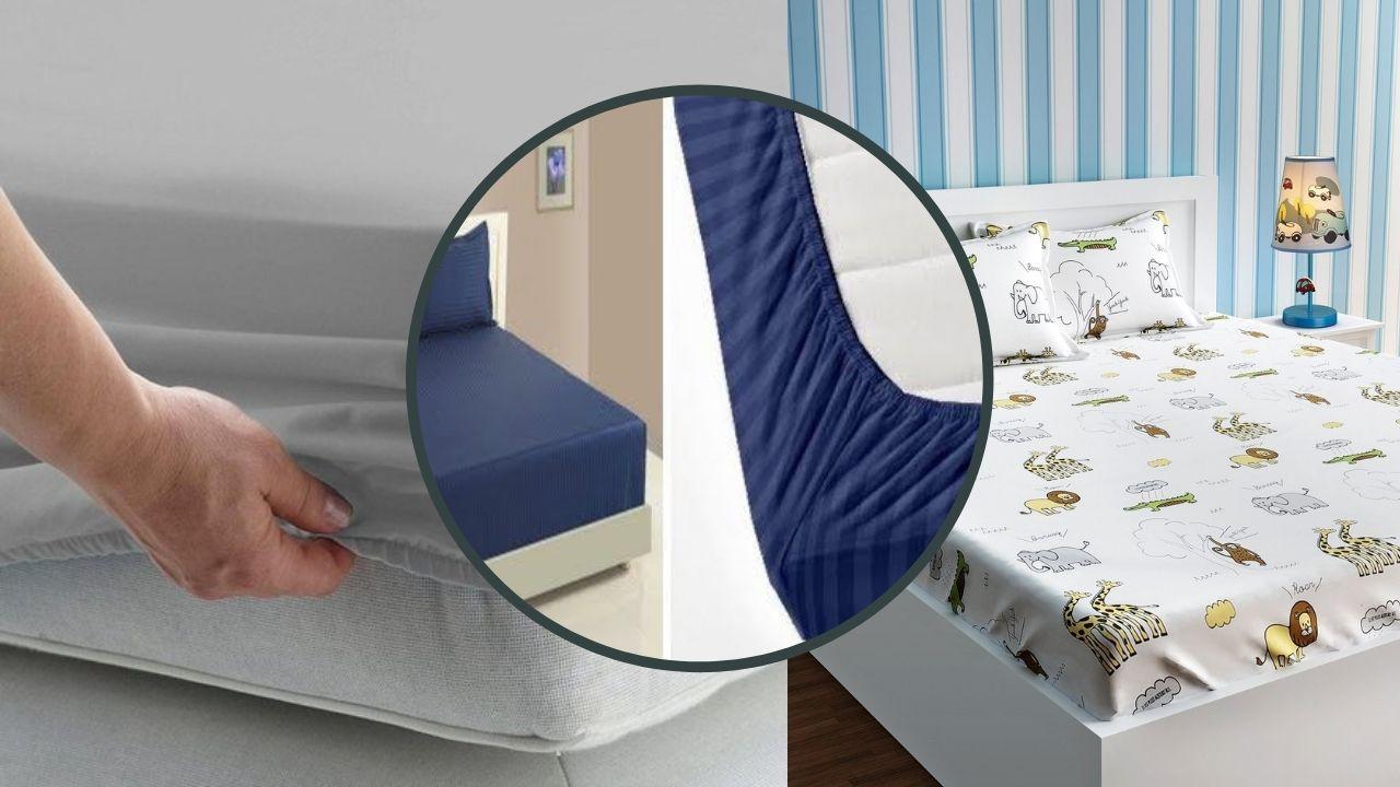 Простыни на кроватях